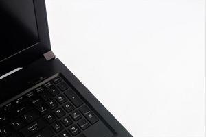 vue clavier sur ordinateur portable. fond blanc photo