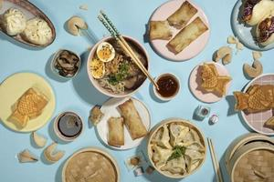 l'assortiment délicieuse cuisine orientale photo