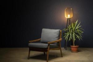 le beau paysage de maison avec lampe photo