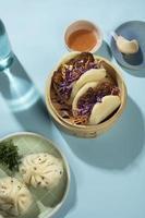 l'assortiment délicieux plats asiatiques photo