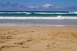 sentier pédestre cofete littoral fuerteventura photo