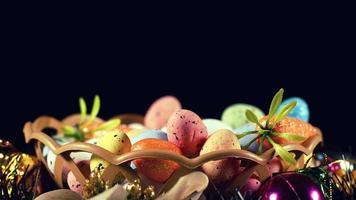oeufs pascals traditionnels colorés de pâques photo