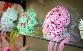 bouquet de mariage coloré belles fleurs romantiques photo