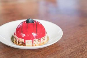 gâteau mousse framboise photo