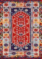 tapis design en tissu traditionnel asiatique photo