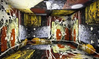 scène d'intérieur de salle de peinture d'art abstrait photo