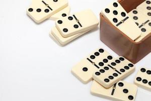 pierres de jeu de stratégie de dominos photo