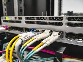 câblage fibre dans le commutateur photo