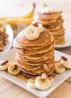 galette de banane aux amandes au miel photo