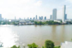 flou abstrait ville de bangkok pour le fond photo