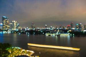 flou abstrait ville de bangkok en thaïlande la nuit photo