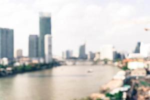 flou abstrait ville de bangkok en thaïlande photo