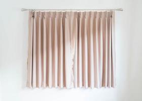 décoration intérieure de rideau vide sur le mur dans le salon photo