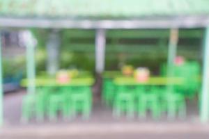 flou abstrait dans le restaurant de rue pour le fond photo