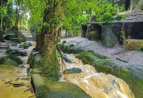 cascade de goudron nim et jardin magique secret de koh samui en thaïlande. photo