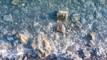 mer méditerranée avec des rochers photo