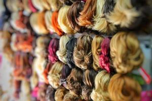toupet imitation cheveux mode beauté concept photo