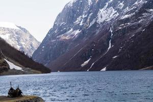 bateau viking à sognefjord photo
