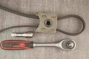 outils sur la table photo