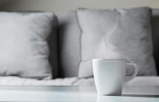tasse de café à la maison photo