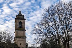 clocher de la cathédrale de teni dans la partie stotique de la ville photo