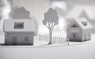 concept d'entreprise architecture maquette bâtiment photo