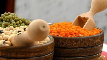 légumineuses crues végétariennes saines photo