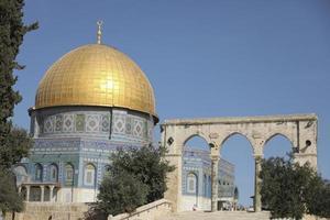 le dôme du mont du temple du rocher jérusalem, israël photo