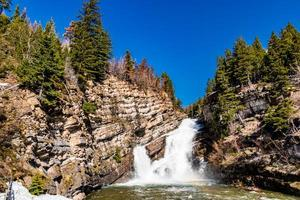 Cameron Falls parc national du lac Waterton alberta canada photo