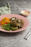 composition avec un délicieux repas végétalien photo