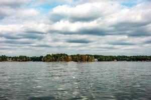canotage autour du lac normand en caroline du nord photo
