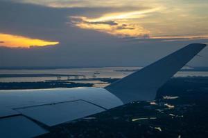 Norfolk Virginie va ville portuaire au coucher du soleil photo