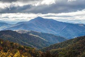 vue sur les montagnes de la crête bleue depuis la promenade photo