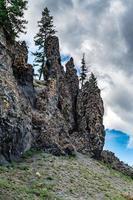 aux cascades Firehole je Yellowstone au Wyoming photo