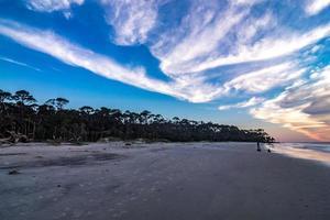 plage de l'île de chasse et parc d'état en caroline du sud photo