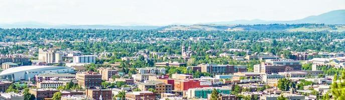 Spokane Washington vue sur les toits de la ville et la vallée de Spokane photo