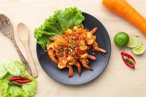 crevettes piment nourriture photo