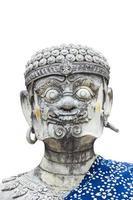 statue géante de style thaï isoler fond blanc photo