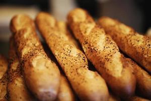 pain baguette, produits de boulangerie, pâtisserie et boulangerie photo