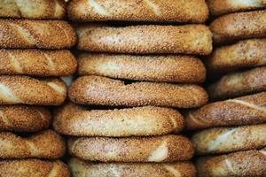 bagels au sésame, produits de boulangerie, pâtisserie et boulangerie photo