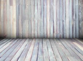 intérieur du mur de fond de texture de maison en bois, perspective. photo