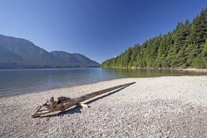 lac de montagne par temps clair photo