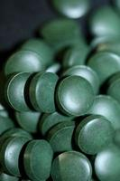 pilules close up medical spirulina platensis famille d'algues algazspace photo