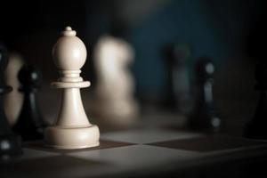 jeu de stratégie aux échecs photo