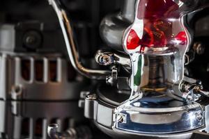 macro de moteur de moteur de voitures de technologie moderne photo