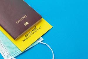 passeports vaccinaux comme preuve que le titulaire a été vacciné photo