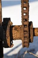 chaîne en métal rouillé grunge abstrait photo
