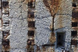 détail macro en métal rouillé photo
