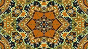 kaléidoscope de tapis ethnique authentique photo