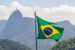 drapeau du brésil à rio de janeiro, brésil photo